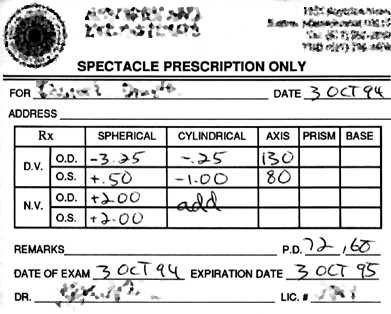 Convert Glasses Cyl Prescription To Contacts